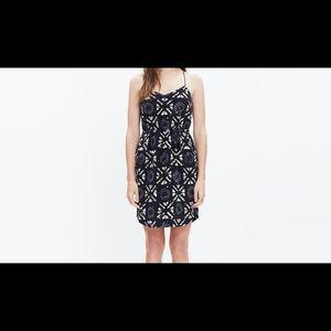 Madewell Starview Cami Silk Dress in Batik Grid